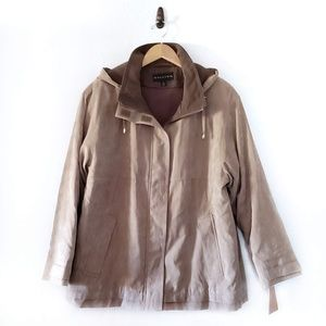 Gallery Taupe Microsuede Removable Lining Parka